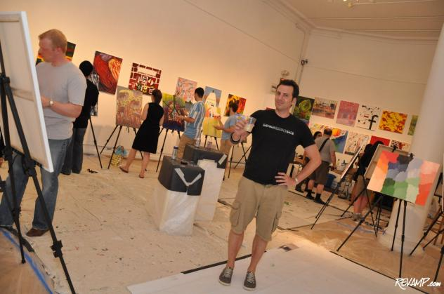 ArtJamz founder Michael M. Clements stands surrounded by creativity in Gallery 31 of the iconic Corcoran.